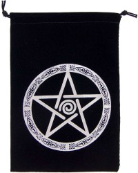 Pentacle Embroidered Velvet Pouch Mystic Convergence Metaphysical Supplies Metaphysical Supplies, Pagan Jewelry, Witchcraft Supply, New Age Spiritual Store