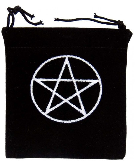 Pentacle Embroidered Small Velvet Pouch at Mystic Convergence Metaphysical Supplies, Metaphysical Supplies, Pagan Jewelry, Witchcraft Supply, New Age Spiritual Store