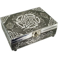 Pentacle Embossed Metal Box