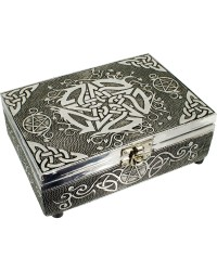 Pentacle Embossed Metal Box Mystic Convergence Metaphysical Supplies Metaphysical Supplies, Pagan Jewelry, Witchcraft Supply, New Age Spiritual Store