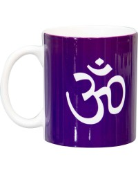Om Symbol Purple Ceramic Mug Mystic Convergence Magical Supplies Wiccan Supplies, Pagan Jewelry, Witchcraft Supplies, New Age Store