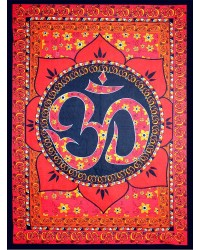 Red Om Lotus Tapestry Mystic Convergence Metaphysical Supplies Metaphysical Supplies, Pagan Jewelry, Witchcraft Supply, New Age Spiritual Store