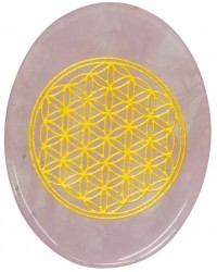 Rose Quartz Flower of Life Worry Stone Mystic Convergence Metaphysical Supplies Metaphysical Supplies, Pagan Jewelry, Witchcraft Supply, New Age Spiritual Store