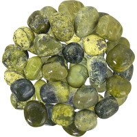 Serpentine Tumbled Stones - 1 Pound Bag