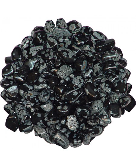 Snow Flake Obsidian Tumbled Stones - 1 Pound Pack at Mystic Convergence Metaphysical Supplies, Metaphysical Supplies, Pagan Jewelry, Witchcraft Supply, New Age Spiritual Store
