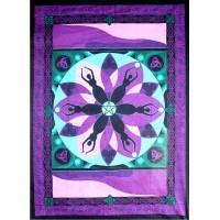 Moon Goddess Purple Tapestry