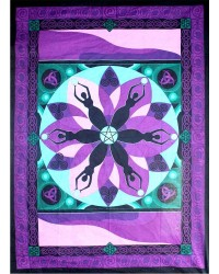 Moon Goddess Purple Tapestry Mystic Convergence Metaphysical Supplies Metaphysical Supplies, Pagan Jewelry, Witchcraft Supply, New Age Spiritual Store