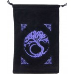 Tree of Life Embroidered Velvet Pouch at Mystic Convergence Metaphysical Supplies, Metaphysical Supplies, Pagan Jewelry, Witchcraft Supply, New Age Spiritual Store