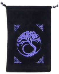 Tree of Life Embroidered Velvet Pouch Mystic Convergence Metaphysical Supplies Metaphysical Supplies, Pagan Jewelry, Witchcraft Supply, New Age Spiritual Store