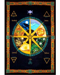 Wheel of the Year Calendar Tapestry Mystic Convergence Metaphysical Supplies Metaphysical Supplies, Pagan Jewelry, Witchcraft Supply, New Age Spiritual Store
