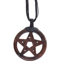 Wood Pentacle Large Pendant