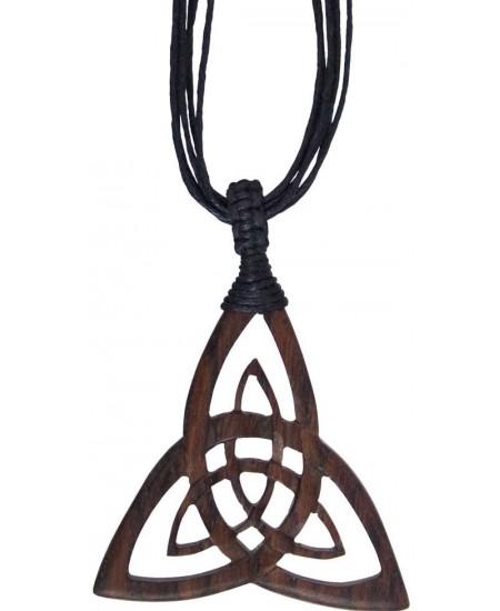 Wood Triquetra Large Pendant