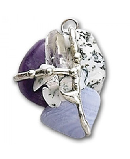 Inner Peace Gemstone Magical Amulet at Mystic Convergence Metaphysical Supplies, Metaphysical Supplies, Pagan Jewelry, Witchcraft Supply, New Age Spiritual Store