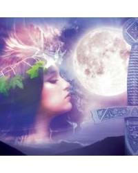 Celtic Moon Greeting Card with Music CD Mystic Convergence Wiccan Supplies, Pagan Jewelry, Witchcraft Supplies, New Age Store