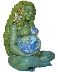 Millennial Gaia Mother Earth 7 Inch Statue Mystic Convergence Metaphysical Supplies Metaphysical Supplies, Pagan Jewelry, Witchcraft Supply, New Age Spiritual Store
