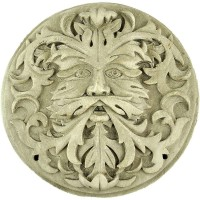 Green Man Winter White Plaque