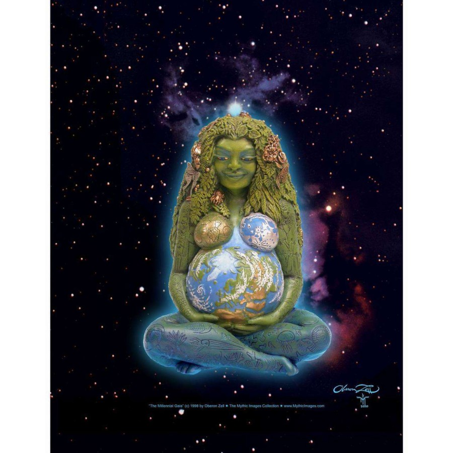 millennial gaia mother earth full color poster art by oberon zell