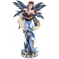 Crescent Moon Fairy Statue
