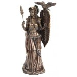 Athena Standing with Shield Greek Bronze Statue at Mystic Convergence Metaphysical Supplies, Metaphysical Supplies, Pagan Jewelry, Witchcraft Supply, New Age Spiritual Store