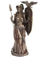 Athena Standing with Shield Greek Bronze Statue Mystic Convergence Metaphysical Supplies Metaphysical Supplies, Pagan Jewelry, Witchcraft Supply, New Age Spiritual Store