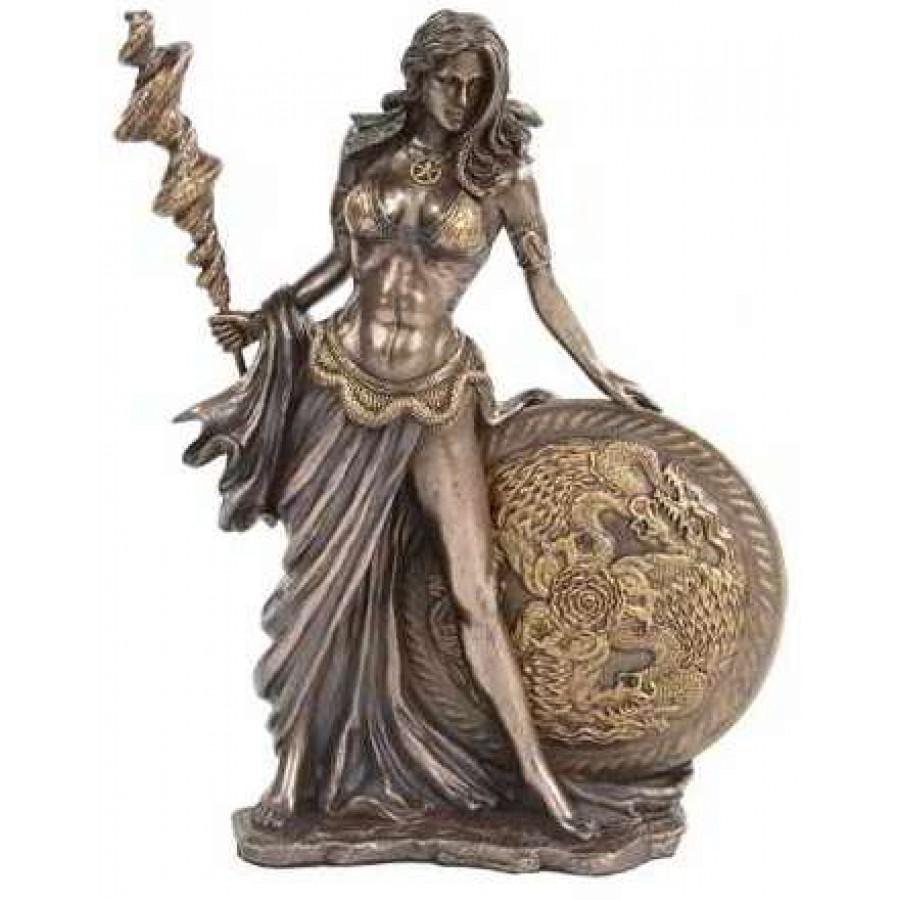 Frigga norse goddess bronze statue by derek w frost norse god statue - God and goddess statues ...
