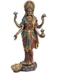 Lakshmi, HIndu Goddess of Wealth Statue Mystic Convergence Metaphysical Supplies Metaphysical Supplies, Pagan Jewelry, Witchcraft Supply, New Age Spiritual Store
