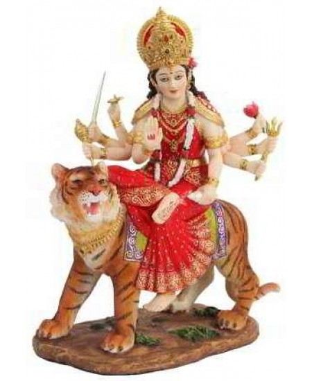 Durga, Hindu Goddess of Justice Statue at Mystic Convergence Metaphysical Supplies, Metaphysical Supplies, Pagan Jewelry, Witchcraft Supply, New Age Spiritual Store