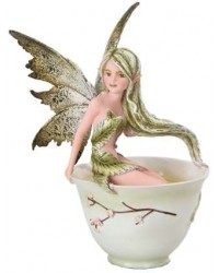 Green Tea Fairy Statue Mystic Convergence Metaphysical Supplies Metaphysical Supplies, Pagan Jewelry, Witchcraft Supply, New Age Spiritual Store