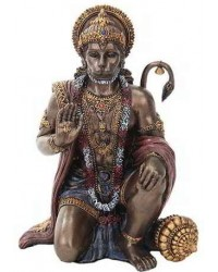 Hanuman Hindu God Bronze Finish Statue Mystic Convergence Metaphysical Supplies Metaphysical Supplies, Pagan Jewelry, Witchcraft Supply, New Age Spiritual Store