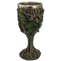 Greenman, Lord of the Forest Wiccan Altar Chalice