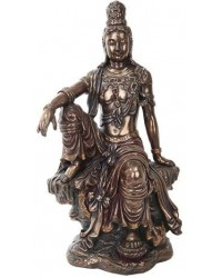 Water and Moon Kuan Yin 16 Inch Bronze Resin Statue Mystic Convergence Metaphysical Supplies Metaphysical Supplies, Pagan Jewelry, Witchcraft Supply, New Age Spiritual Store