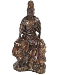 Water and Moon Kuan Yin Bronze Resin Statue Mystic Convergence Metaphysical Supplies Metaphysical Supplies, Pagan Jewelry, Witchcraft Supply, New Age Spiritual Store