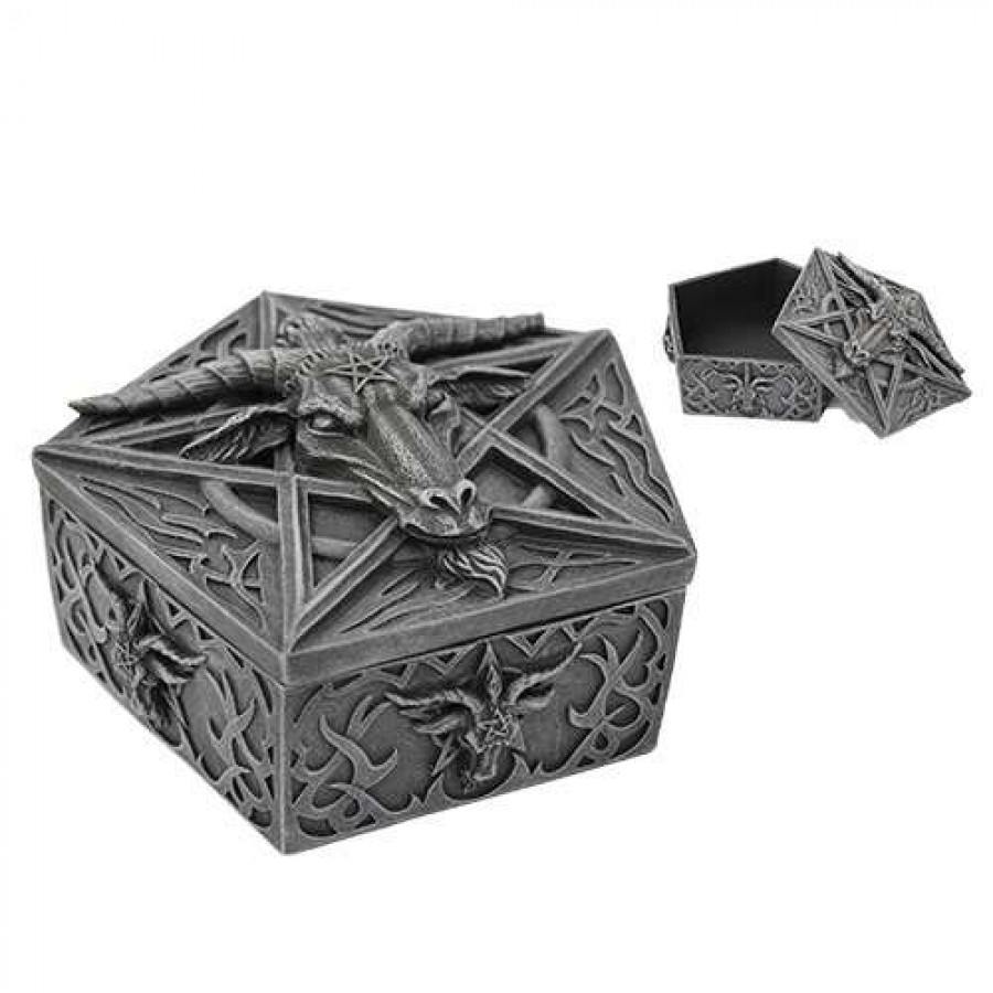 baphomet horned god goat trinket box at mystic convergence wiccan supplies pagan jewelry