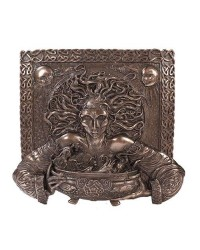 Cerridwen Cauldron Celtic Goddess 9 Inch Bronze Finish Plaque Mystic Convergence Metaphysical Supplies Metaphysical Supplies, Pagan Jewelry, Witchcraft Supply, New Age Spiritual Store