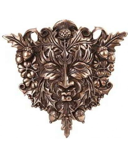 Greenman Bronze Resin Plaque at Mystic Convergence Metaphysical Supplies, Metaphysical Supplies, Pagan Jewelry, Witchcraft Supply, New Age Spiritual Store