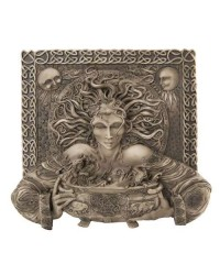 Cerridwen Cauldron Celtic Goddess 9 Inch Stone Finish Plaque Mystic Convergence Metaphysical Supplies Metaphysical Supplies, Pagan Jewelry, Witchcraft Supply, New Age Spiritual Store