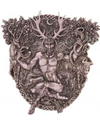 Cernunnos Horned God Celtic Wall Plaque Stone Finish Mystic Convergence Metaphysical Supplies Metaphysical Supplies, Pagan Jewelry, Witchcraft Supply, New Age Spiritual Store