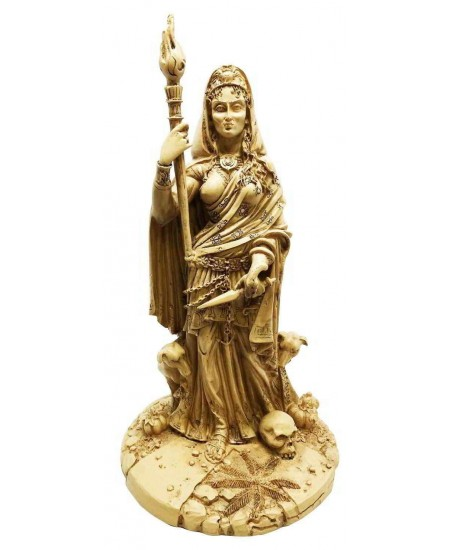 Hecate Greek Goddess of the Crossroads Bone Resin Statue at Mystic Convergence Metaphysical Supplies, Metaphysical Supplies, Pagan Jewelry, Witchcraft Supply, New Age Spiritual Store