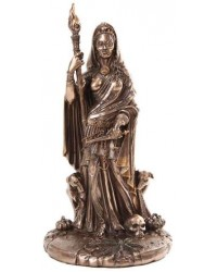 Hecate Greek Goddess of the Crossroads Bronze Resin Statue Mystic Convergence Metaphysical Supplies Metaphysical Supplies, Pagan Jewelry, Witchcraft Supply, New Age Spiritual Store