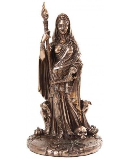 Hecate Greek Goddess of the Crossroads Bronze Resin Statue at Mystic Convergence Metaphysical Supplies, Metaphysical Supplies, Pagan Jewelry, Witchcraft Supply, New Age Spiritual Store