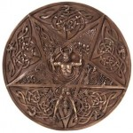 Elemental Pentacle Bronze Wall Plaque at Mystic Convergence Metaphysical Supplies, Metaphysical Supplies, Pagan Jewelry, Witchcraft Supply, New Age Spiritual Store