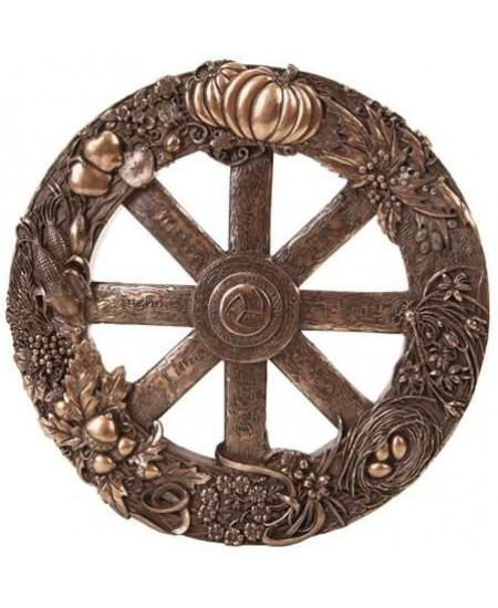 Pagan Wheel of the Year Bronze Finish Wall Plaque at Mystic Convergence Metaphysical Supplies, Metaphysical Supplies, Pagan Jewelry, Witchcraft Supply, New Age Spiritual Store