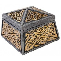 Celtic Knot Lidded Trinket Box