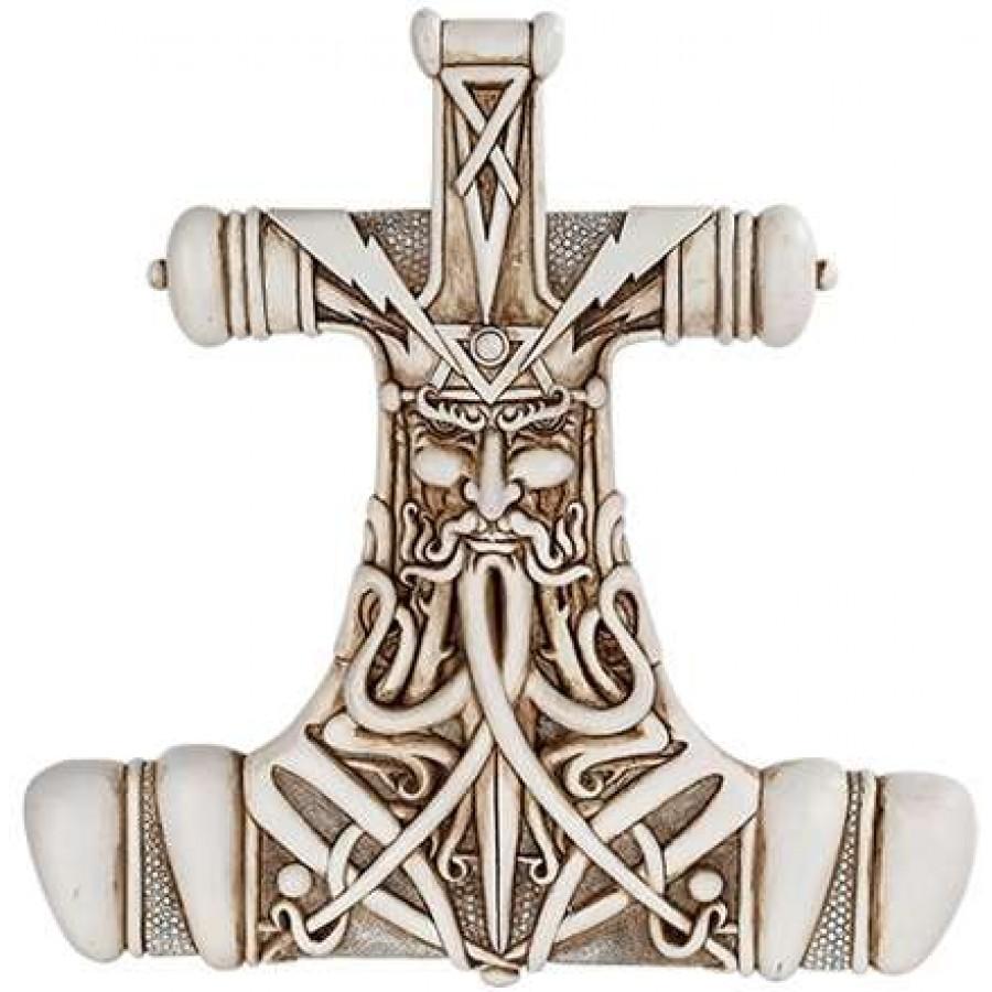 mjolnir thor hammer bone resin plaque by maxine miller
