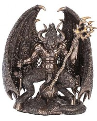 Lucifer Bronze Resin 9 3/4 Inch Statue Mystic Convergence Metaphysical Supplies Metaphysical Supplies, Pagan Jewelry, Witchcraft Supply, New Age Spiritual Store