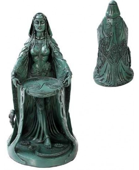 Danu Celtic Goddess Resin Statue at Mystic Convergence Metaphysical Supplies, Metaphysical Supplies, Pagan Jewelry, Witchcraft Supply, New Age Spiritual Store