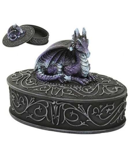 Purple Dragon Trinket Box at Mystic Convergence Metaphysical Supplies, Metaphysical Supplies, Pagan Jewelry, Witchcraft Supply, New Age Spiritual Store