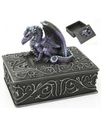 Purple Dragon Square Trinket Box Mystic Convergence Metaphysical Supplies Metaphysical Supplies, Pagan Jewelry, Witchcraft Supply, New Age Spiritual Store