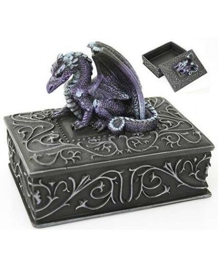 Purple Dragon Square Trinket Box at Mystic Convergence Metaphysical Supplies, Metaphysical Supplies, Pagan Jewelry, Witchcraft Supply, New Age Spiritual Store