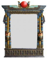 Wadjet Egyptian Wall Mirror with Cobra Candle Sconces Mystic Convergence Metaphysical Supplies Metaphysical Supplies, Pagan Jewelry, Witchcraft Supply, New Age Spiritual Store
